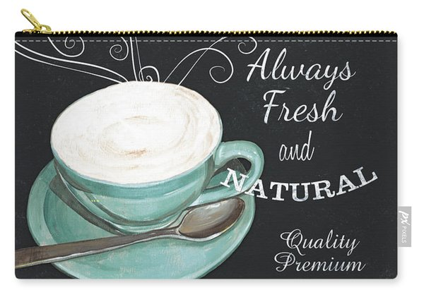 Chalkboard Retro Coffee Shop 1 Carry-all Pouch