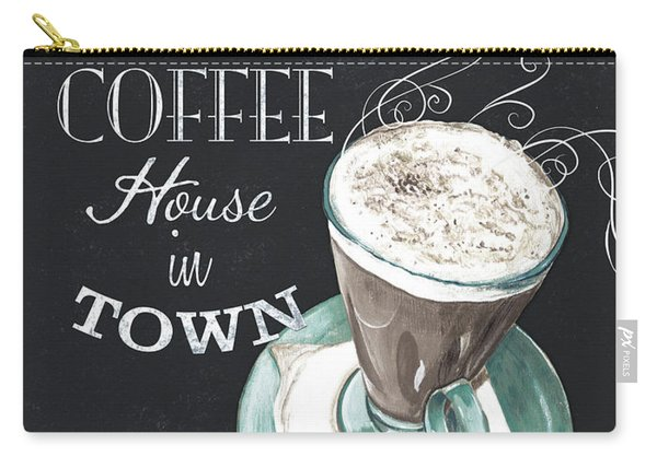 Chalkboard Retro Coffee Shop 2 Carry-all Pouch