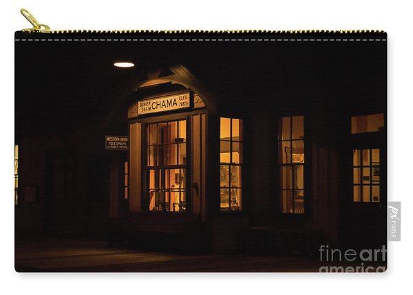 Carry-all Pouch featuring the photograph Chama Depot by Susan Warren