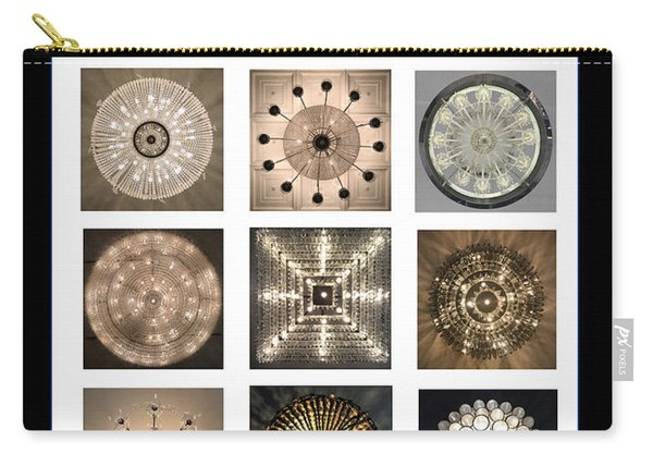 Chandeliers From Chicago Poster Carry-all Pouch