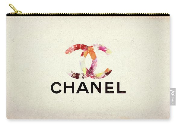 Chanel Floral Texture  Carry-all Pouch
