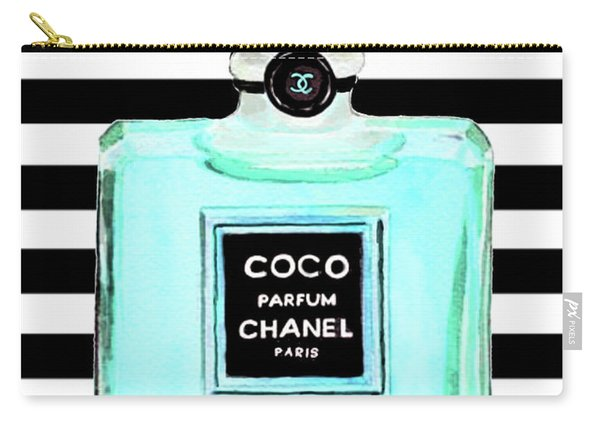 Chanel Perfume Turquoise Chanel Poster Chanel Print Carry-all Pouch