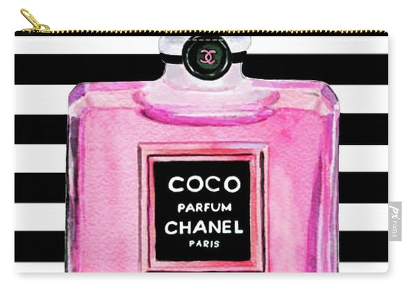 Chanel Pink Perfume 1 Carry-all Pouch