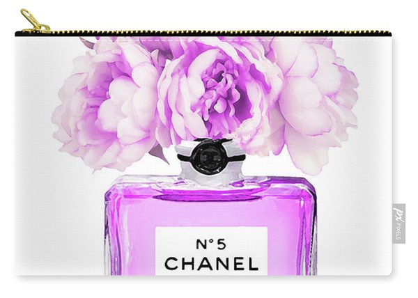 Chanel Print Chanel Poster Chanel Peony Flower Carry-all Pouch