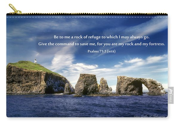 Channel Island National Park - Anacapa Island Arch With Bible Verse Carry-all Pouch