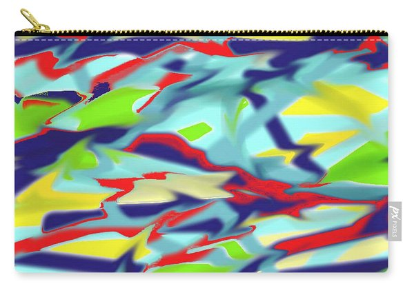 Chaos Into Form Blue Carry-all Pouch
