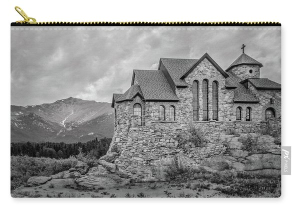 Chapel On The Rock - Black And White Carry-all Pouch