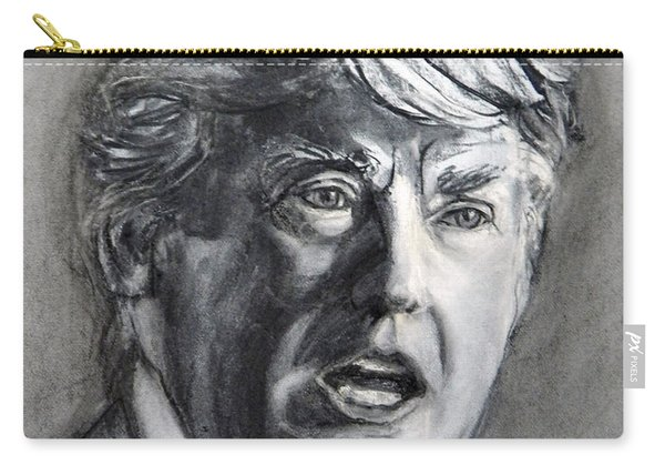 Charcoal Portrait Of The Donald Carry-all Pouch