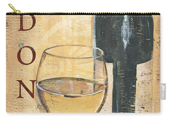 Chardonnay Wine And Grapes Carry-all Pouch