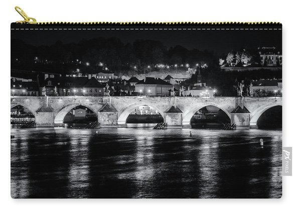 Charles Bridge Prague Night Carry-all Pouch