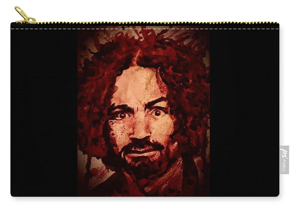 Charles Manson Portrait Fresh Blood Carry-all Pouch