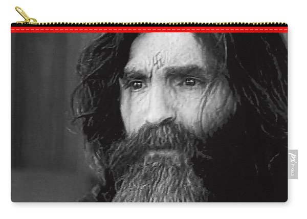 Charles Manson Screen Capture Circa 1970-2015 Carry-all Pouch