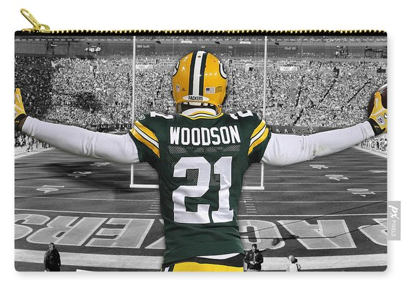 Charles Woodson Green Bay Packers Stadium Art 2 Carry-all Pouch