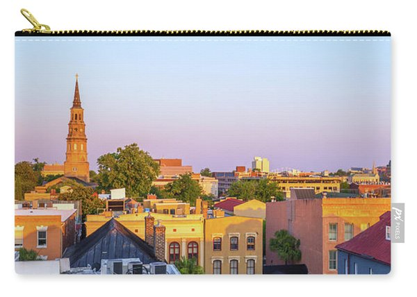 Carry-all Pouch featuring the photograph Charleston Glows by Donnie Whitaker