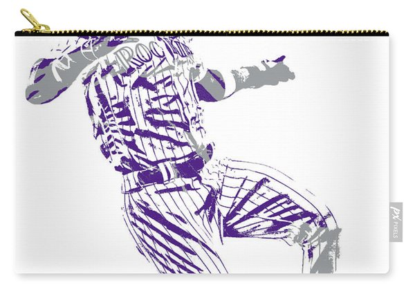Charlie Blackmon Colorado Rockies Pixel Art 12 Carry-all Pouch