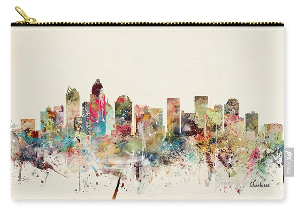 Charlotte City Skyline Carry-all Pouch