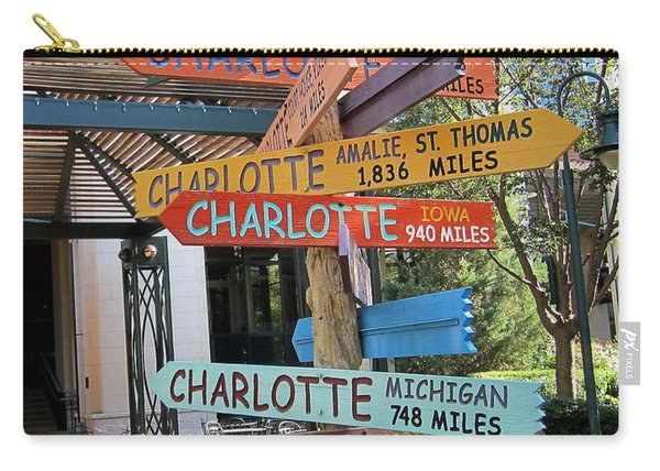 Carry-all Pouch featuring the photograph Charlotte Where Are You? by Mary Lee Dereske