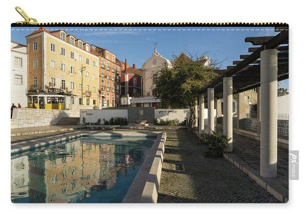 Charming Lisbon - Miradouro De Santa Luzia Morning Reflections Carry-all Pouch