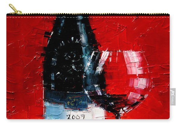 Still Life With Wine Bottle And Glass I Carry-all Pouch