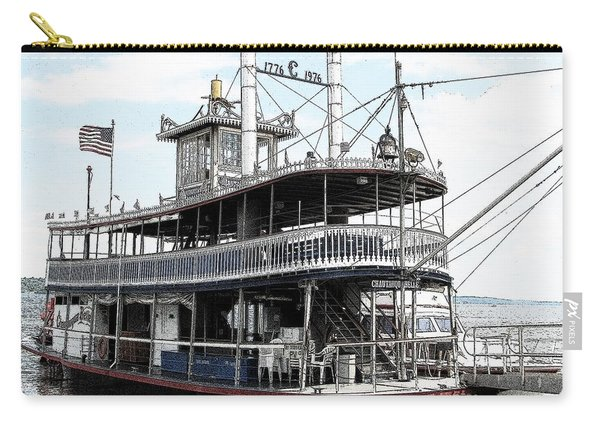 Chautauqua Belle Steamboat With Ink Sketch Effect Carry-all Pouch