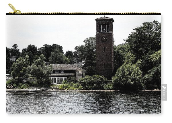 Chautauqua Institute Miller Bell Tower 2 With Ink Sketch Effect Carry-all Pouch