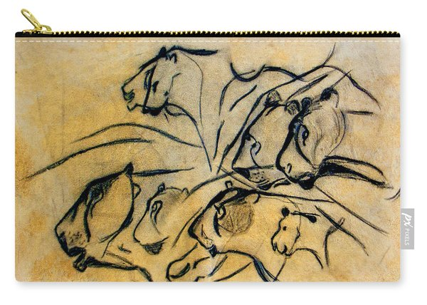 chauvet cave lions Clear Carry-all Pouch