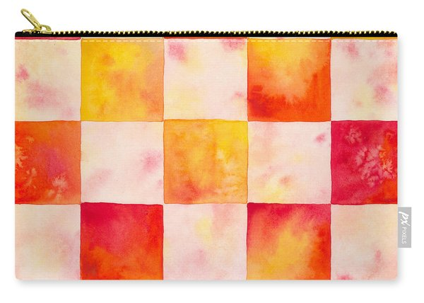 Checkerboard Watercolor Carry-all Pouch