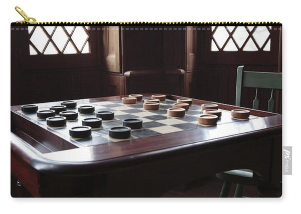 Checkers Table At The Lincoln Cottage In Washington Dc Carry-all Pouch