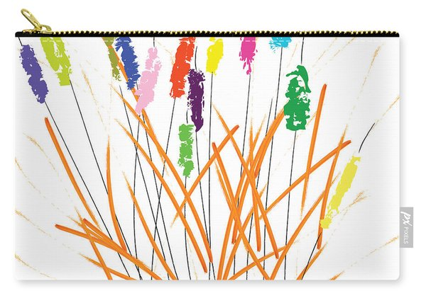 Cheerful Cattails Carry-all Pouch