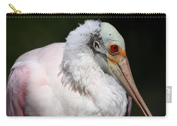 Cheese Puff Face - Roseate Spoonbill Carry-all Pouch