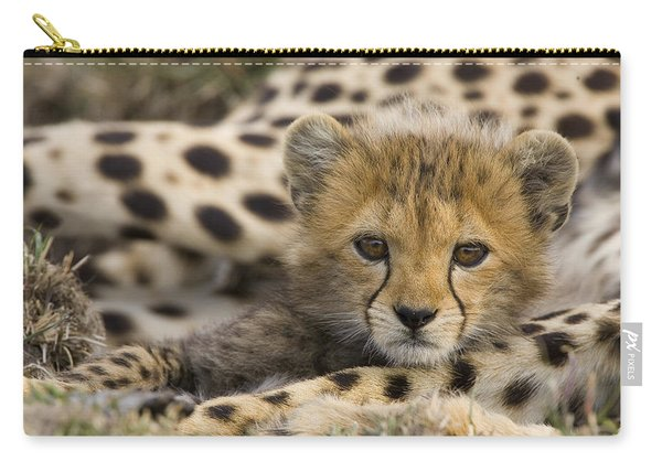 Cheetah Cub Portrait Carry-all Pouch
