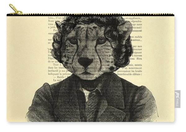 Cheetah On Dictionary Book Page Carry-all Pouch