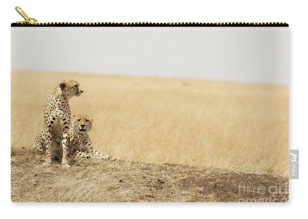 Cheetah Pair In The Masai Mara Carry-all Pouch