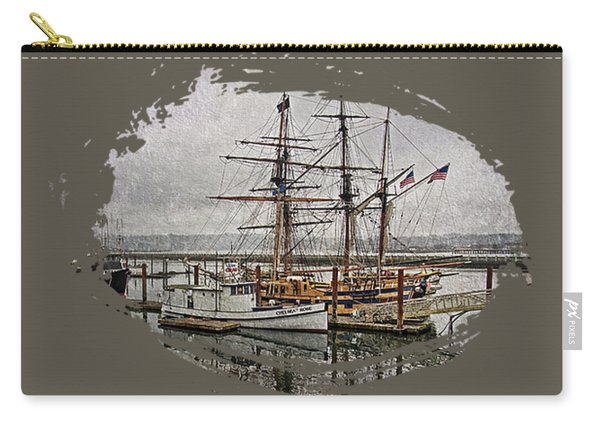 Chelsea Rose And Tall Ships Carry-all Pouch