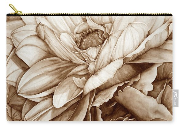 Chelsea's Bouquet 2 - Neutral Carry-all Pouch