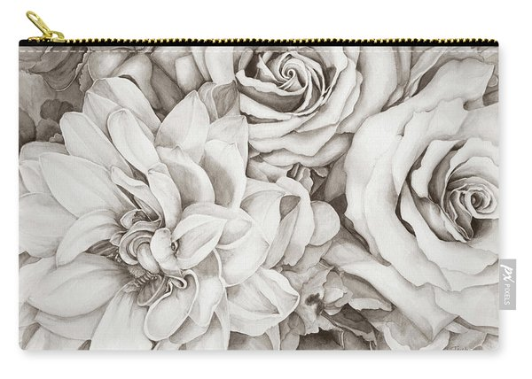 Chelsea's Bouquet - Neutral Carry-all Pouch