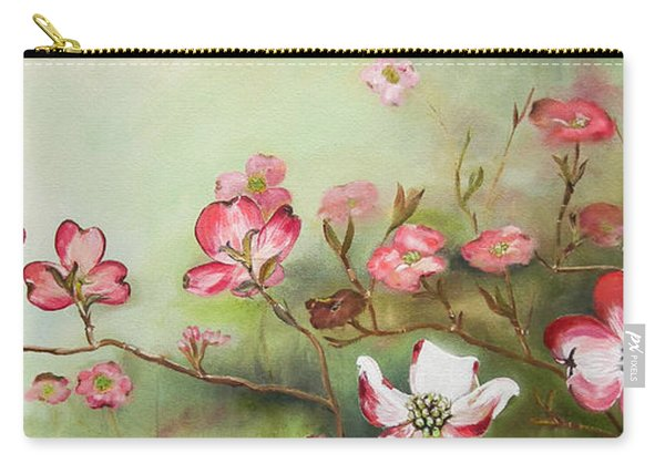 Cherokee Dogwood - Brave- Blushing Carry-all Pouch