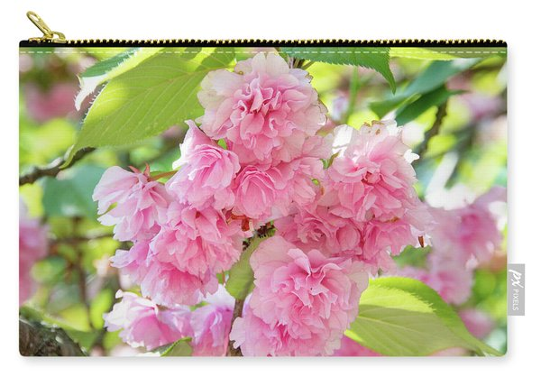 Cherry Blossom Cluster Carry-all Pouch