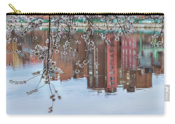 Cherry Blossom Reflections Carry-all Pouch
