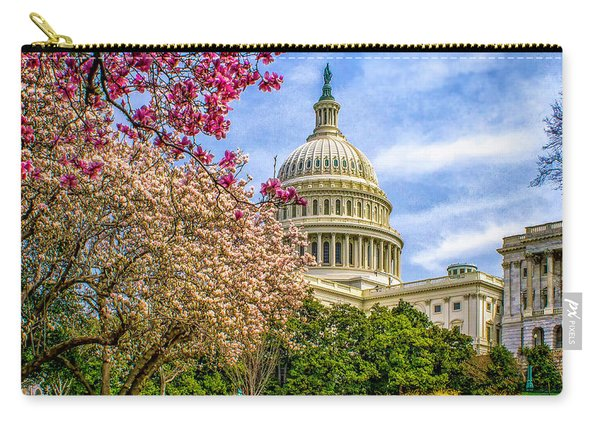 Cherry Blossoms At The Capitol Carry-all Pouch