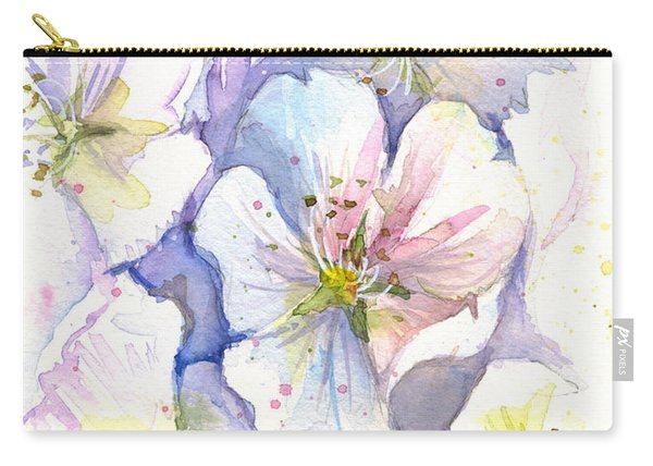 Cherry Blossoms Watercolor Carry-all Pouch
