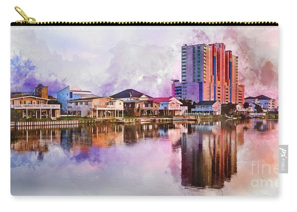 Cherry Grove Skyline - Digital Watercolor Carry-all Pouch