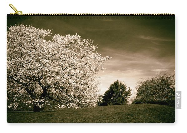Spring Cherry In Sepia Carry-all Pouch