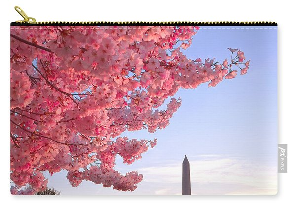 Cherry Tree And The Washington Monument  Carry-all Pouch