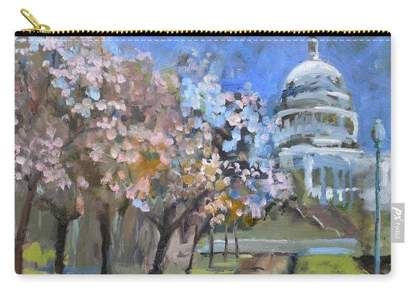 Cherry Tree Blossoms In Washington Dc Carry-all Pouch