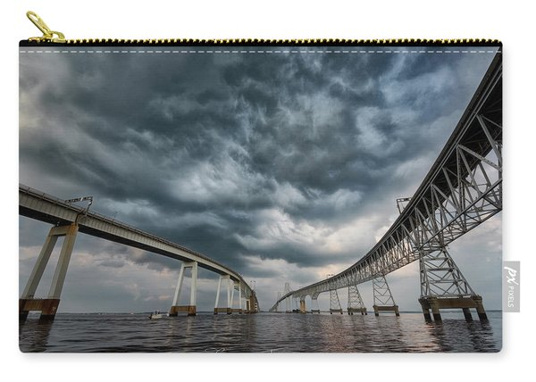 Chesapeake Bay Bridge Storm Carry-all Pouch