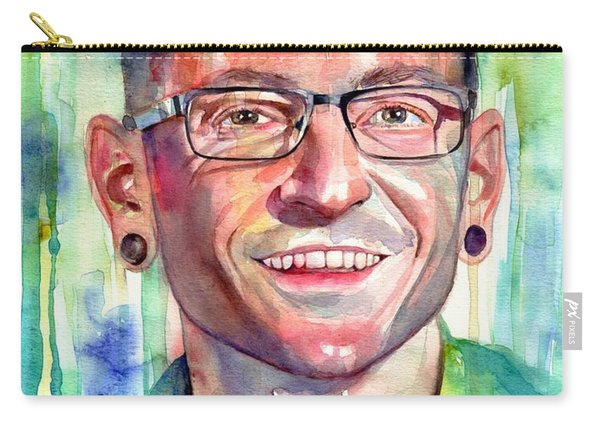 Chester Bennington Portrait Carry-all Pouch