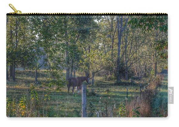 1009 - Chestnut Horse Among The Trees Carry-all Pouch