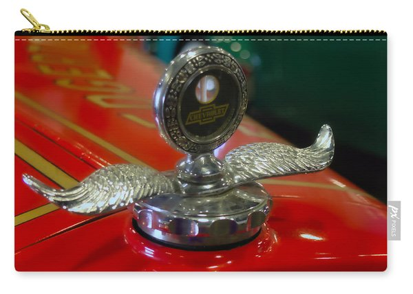 Carry-all Pouch featuring the photograph Chevrolet Wings by Michael Colgate