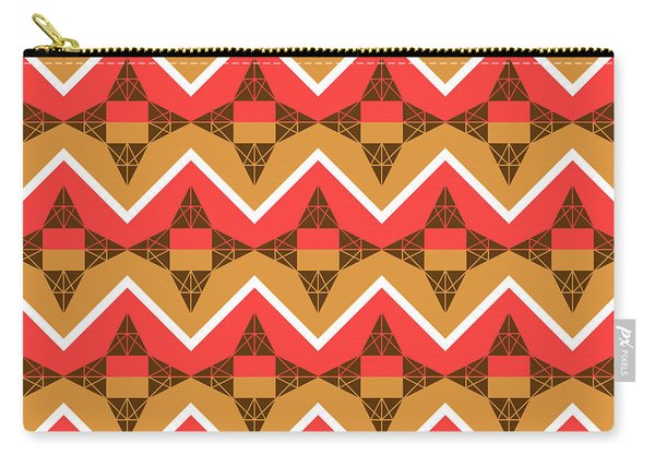 Chevron And Triangles Carry-all Pouch